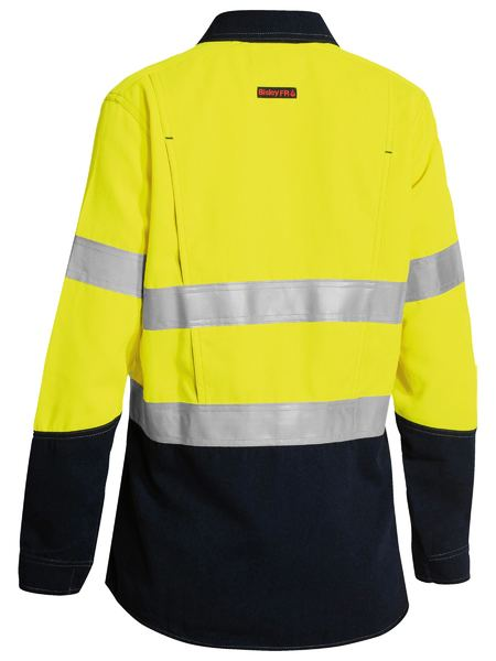 Bisley Tencate Tecsafe Plus Womens Taped 2 Tone HiVis FR Vented Long Sleeve (BL8082T) - Trade Wear