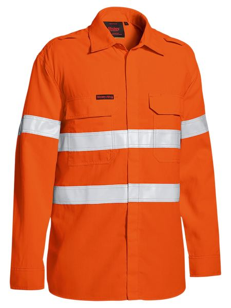 Bisley Bisley Tencate Tecasafe Plus Taped Hi Vis FR Lightweight Vented Long Sleeve (BS8238T) - Trade Wear