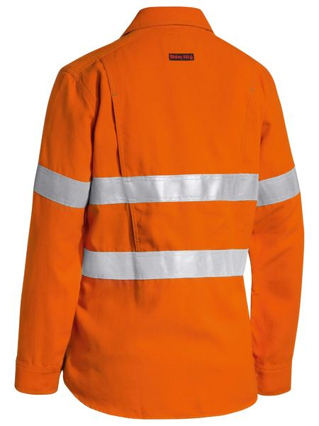 Bisley Bisley Tencate Tecasafe® Womens Taped Hi Vis FR Lightweight Vented Long Sleeve (BL8097T) - Trade Wear