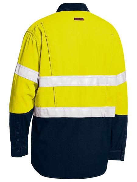 Bisley Bisley Tencate Tecasafe Plus Taped 2Tone HiVis FR Lightweight Vented Long Sleeve (BS8237T) - Trade Wear