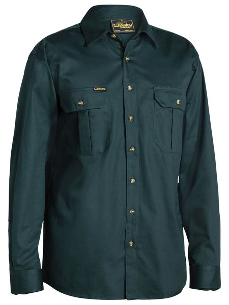 Bisley Bisley Original Cotton Drill Shirt - Long Sleeve (BS6433) - Trade Wear