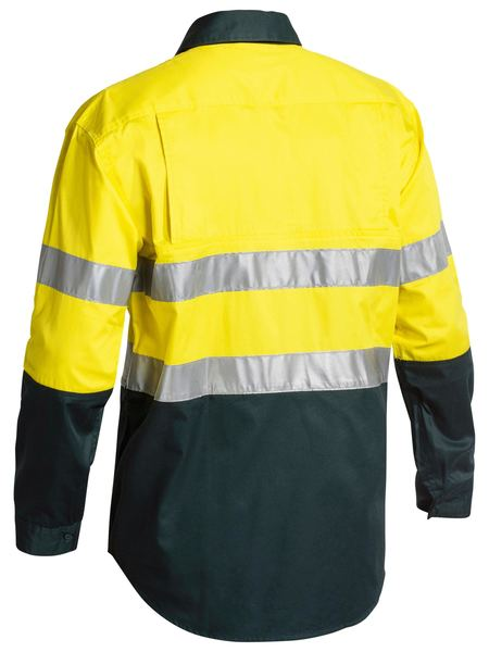 Bisley Bisley 2 Tone 3M HiVis Lightweight Gusset Cuff Shirt Long Sleeve (BS6896) - Trade Wear