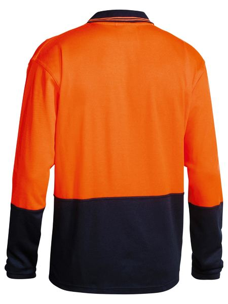 Bisley Bisley 2 Tone Hi Vis Polo Shirt Long Sleeve (BK6234) - Trade Wear