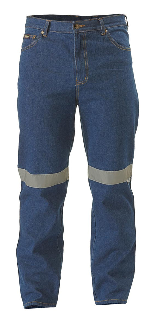 Bisley Rough Rider Jeans 3M Reflective Tape - Blue - Trade Wear