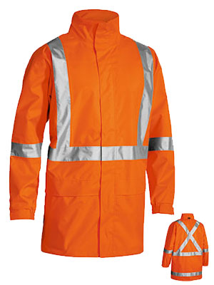 Bisley Bisley X Taped Hi Vis Rain Shell Jacket (BJ6968T) - Trade Wear