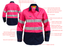Bisley Bisley Ladies 2 Tone 3M Lightweight Hi Vis Shirt in Pink/Navy (BL6896) - Trade Wear