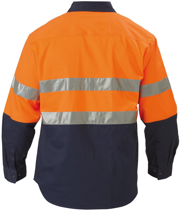 Bisley Bisley TEST - Long Sleeve - Orange/Navy (BTC6456) - Trade Wear