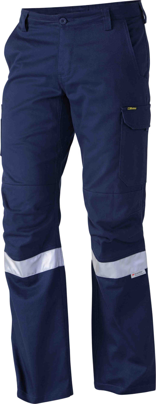 Bisley 3M Taped Industrial Engineered Mens Cargo Pant - Navy (BPC6021T_Navy) - Trade Wear
