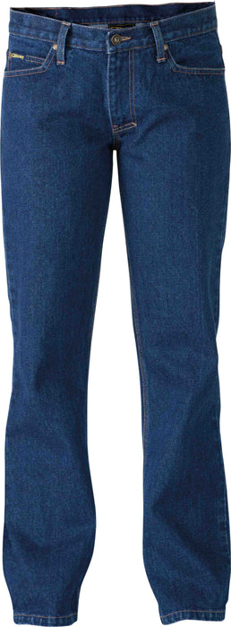 Bisley Industrial Womens Boot Leg Work Denim Jean - Dark Denim (BPL6053_Dark-Denim) - Trade Wear