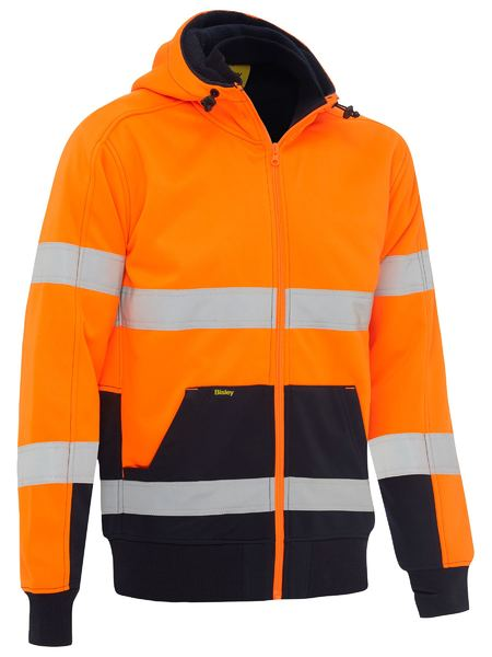 Bisley Bisley Taped Hi Vis Fleece Hoodie With Sherpa Lining (BK6988T) - Trade Wear