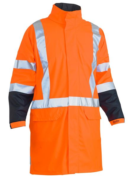 Bisley Bisley TTMC-W 3M X Taped Two Tone Hi Vis Stretch PU Rain Coat (BJ6955XT) - Trade Wear