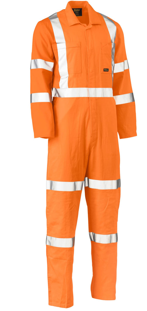 Bisley Bisley X Taped Hi Vis Lightweight Drill Rail Coverall (BC6316XT) - Trade Wear
