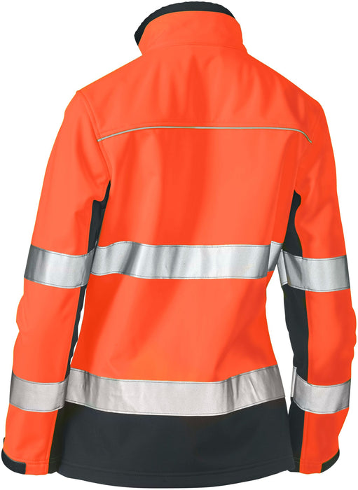 Bisley Bisley Womens Taped Two Tone Hi Vis Soft Shell Jacket (BJL6059T) - Trade Wear