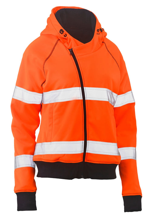 Bisley Bisley Womens Taped Hi Vis Fleece Hoodie (BKL6819T) - Trade Wear