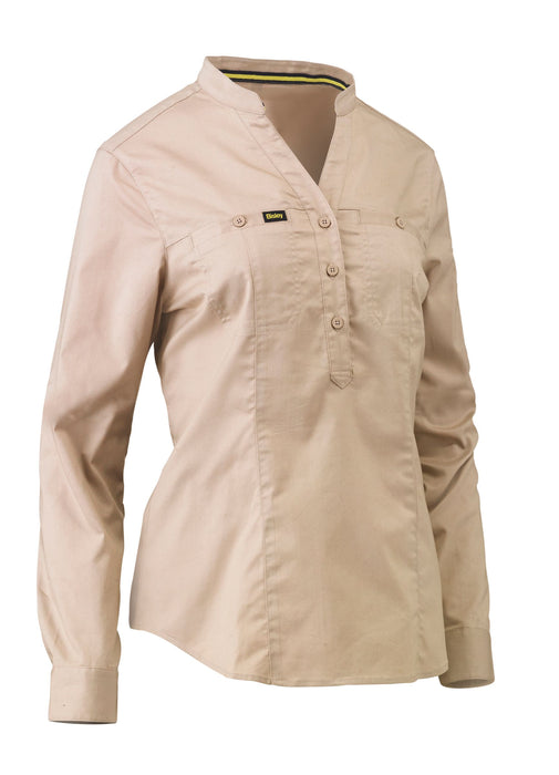 Bisley Bisley Womens Stretch V-Neck Closed Front Shirt (BLC6063) - Trade Wear