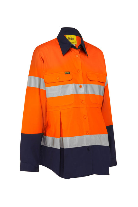 Bisley Bisley 3M Taped Hi Vis Maternity Drill Shirt (BLM6456T) - Trade Wear