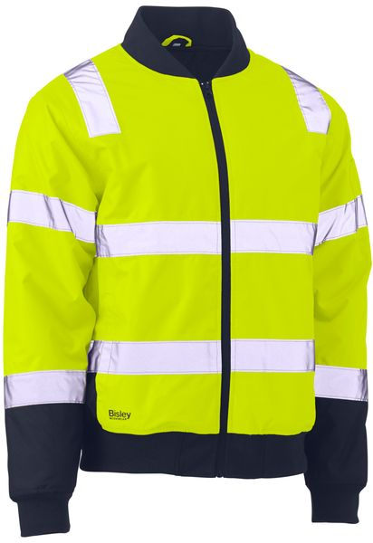 Bisley Bisley Taped Two Tone Hi Vis Bomber Jacket (BJ6730T) - Trade Wear