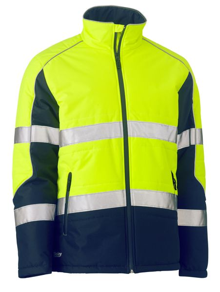 Bisley Bisley Taped Two Tone Hi Vis Puffer Jacket (BJ6829T) - Trade Wear