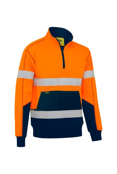Bisley Bisley Taped Hi Vis Fleece Pullover With Sherpa Lining (BK6987T) - Trade Wear