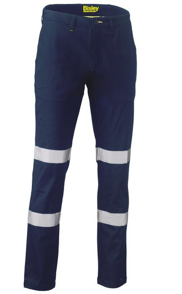 Bisley Bisley Taped Biomotion Stretch Cotton Drill Work Pants (BP6008T) - Trade Wear