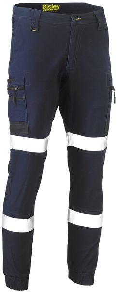 Bisley Flex and Move™ Taped Stretch Cargo Cuffed Pants (BPC6334T) - Trade Wear