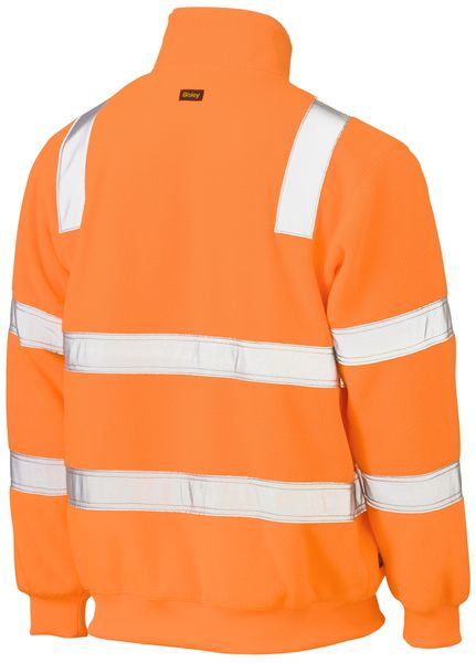 Bisley Bisley Taped Hi Vis Rail Polar Fleece Jumper (BK6816T) - Trade Wear