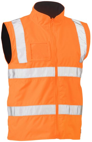 Bisley Bisley Taped Hi Vis Rail Wet Weather Vest (BV0364T) - Trade Wear