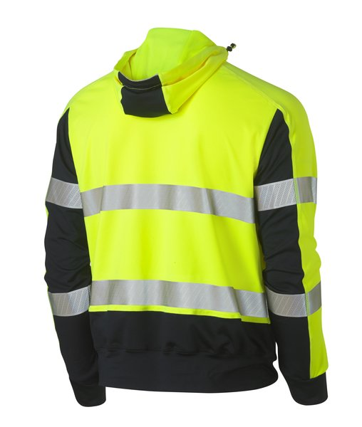 Bisley Bisley Taped Hi Vis Stretchy Fleece Hoodie (BK6815T) - Trade Wear