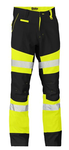 Bisley Bisley Taped Biomotion Contrast Hi Vis Pant (BP6412T) - Trade Wear