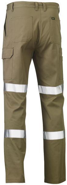 Bisley Bisley 3M Biomotion Double Taped Cool Lightweight Utility Pant - Khaki (BP6999T) - Trade Wear