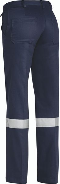 Bisley Ladies Drill Pant 3M Reflective Tape - Navy (BPL6007T) - Trade Wear