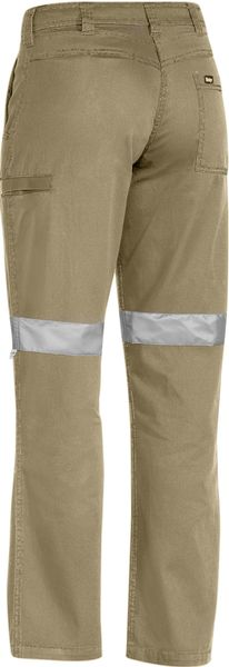 Bisley Bisley Womens 3M Taped Cool Vented Light Weight Pant - Khaki (BPL6431T) - Trade Wear