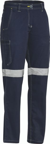 Bisley Womens 3M Taped Cool Vented Light Weight Pant - Navy (BPL6431T) - Trade Wear