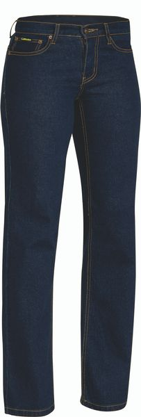 Bisley Ladies Denim Stretch Jeans - Blue (BPL6712) - Trade Wear