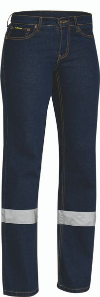 Bisley Bisley Womens Taped Stretch Jeans (BPL6712T) - Trade Wear