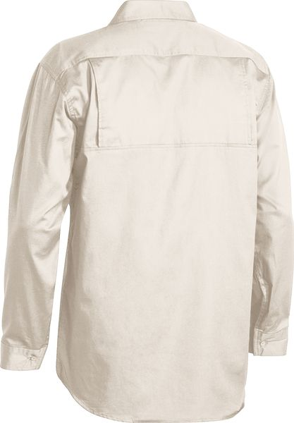 Bisley Bisley Cool Lightweight Drill Shirt - Long Sleeve - Sand (BS6893) - Trade Wear
