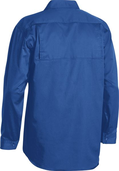 Bisley Bisley Cool Lightweight Drill Shirt - Long Sleeve - Royal (BS6893) - Trade Wear