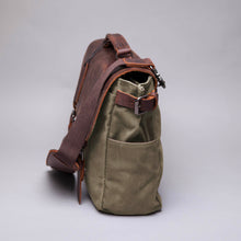 The Burford Waxed Canvas and Leather Camera Bag