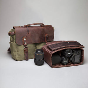 The Burford Waxed Canvas and Leather Camera Bag (2019)