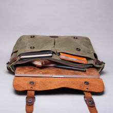 The Burford Waxed Canvas and Leather Messenger Bag (2019)