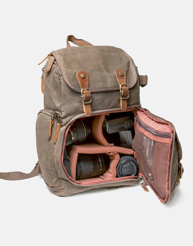 The Blenheim Waxed Canvas DSLR Camera Backpack 2019