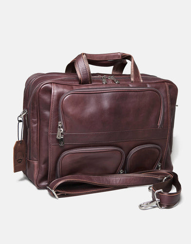 The Tewkesbury Leather laptop bag