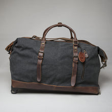 Burford wheeled cotton and leather hold-All Travel Bag 2019