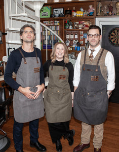 The Kingham heavy grade cotton canvas and leather apron 2019