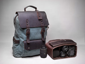 Cotton canvas and leather backpack from Cotswold Hipster