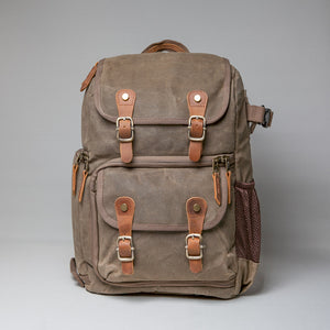 The Blenheim Waxed Canvas DSLR Camera Backpack