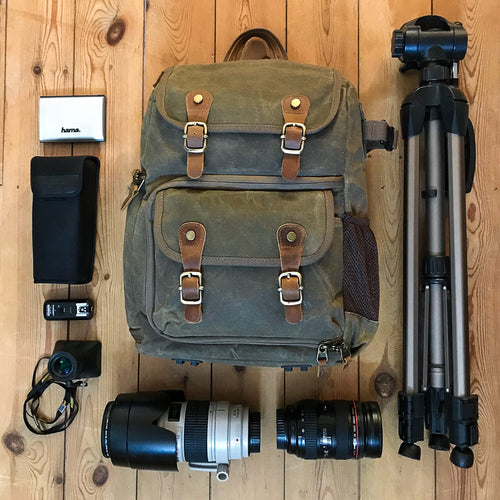 Blenheim Waxed Canvas DSLR Camera Backpack 2018