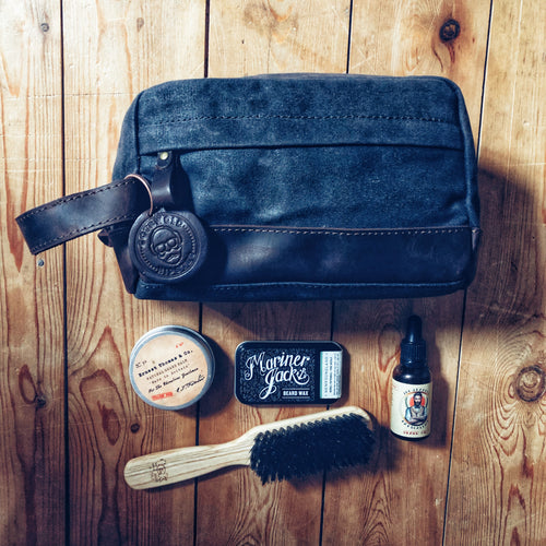 The Dursley Waxed Canvas and Leather Toiletry Bag