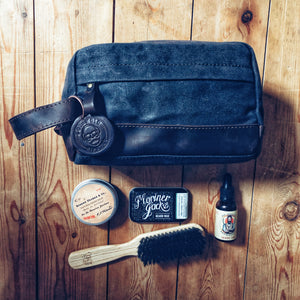 Dursley waxed canvas and leather toiletry bag (New 2019)