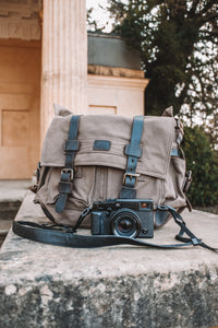 Cotton Camera bag with camera